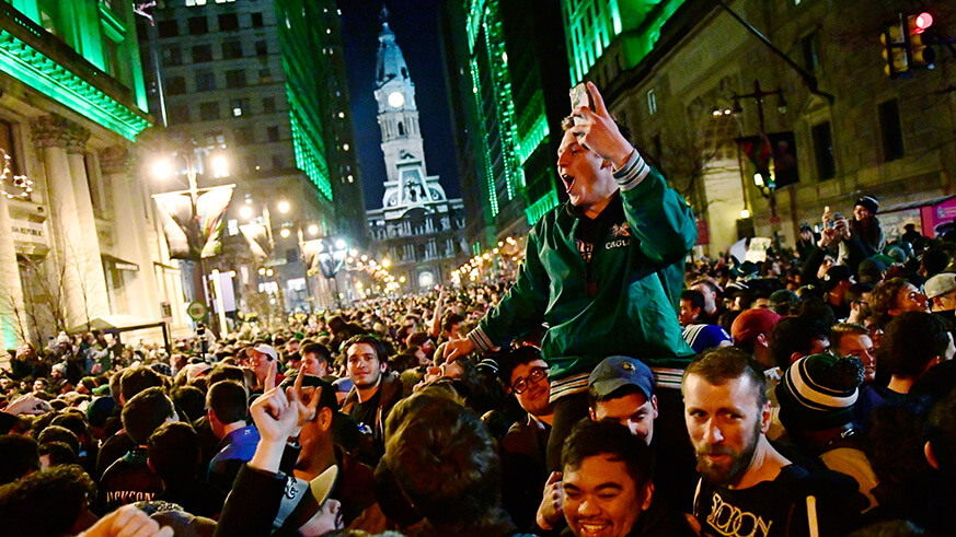 Will Thursday's NFL kickoff festival be as rowdy as the Eagles win?