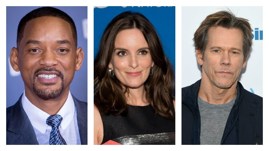 From left: Will Smith, Tina Fey and Kevin Bacon | Getty Images
