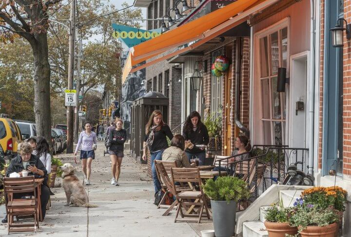 Fairmount in Philadelphia is filled with great restaurants, museums and more. | R. Kennedy for Visit Philadelphia