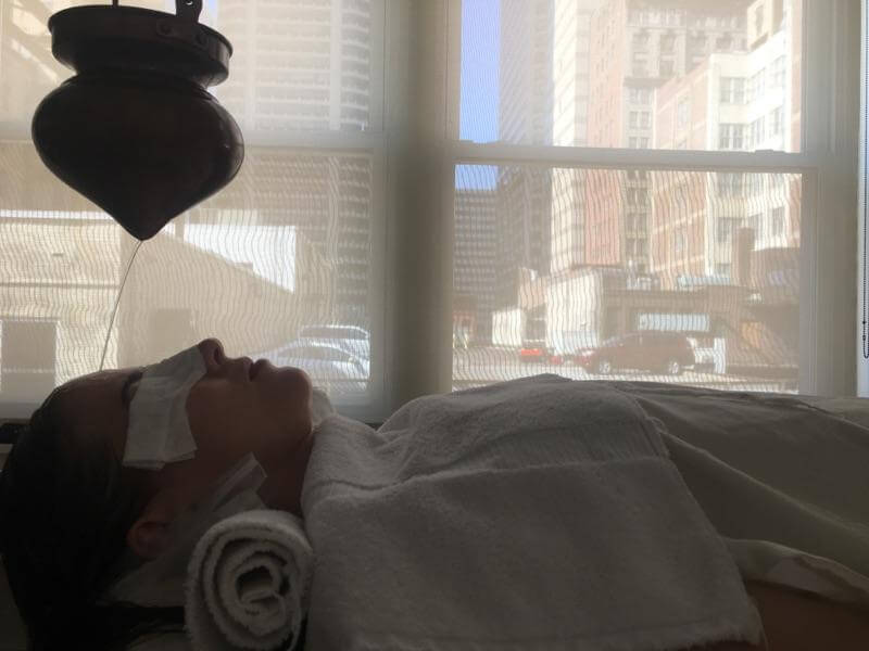 Shirodhara is offered at Half Moon Ayurveda in Center City. | Katelynn Ingersoll