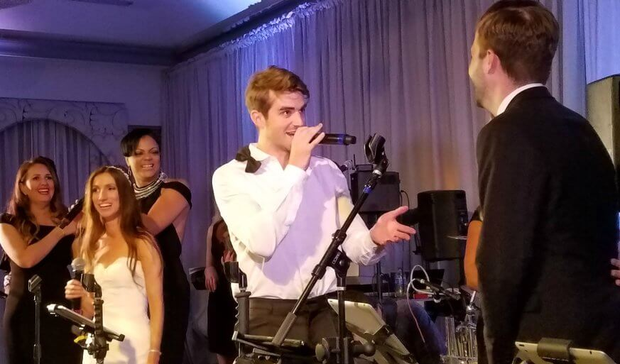 Andrew Taggart of The Chainsmokers performs at a Philly Wedding at The Rittenhouse Hotel. | Credit: EBE Entertainment