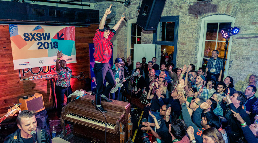 Low Cut Connie rocks the stage at Amplify Philly 2018 at SXSW. | Provided