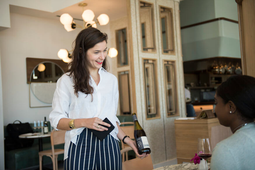 Kaitlyn Caruke is the head sommelier at Walnut St. Cafe. | Provided