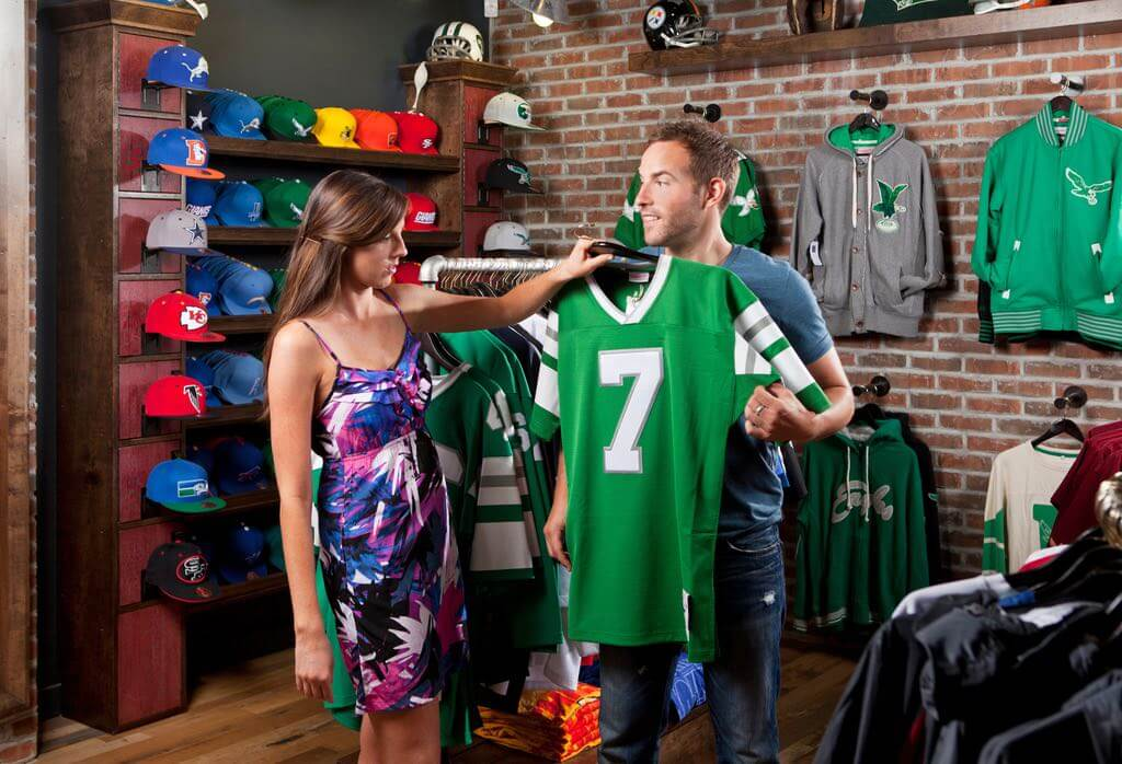 Mitchell & Ness is a great place for Philly souvenirs if you're a sports fan. | C. Gabello for GPTMC