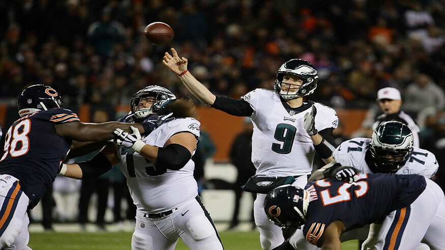 Nick Foles Philadelphia Eagles Chicago Bears NFL